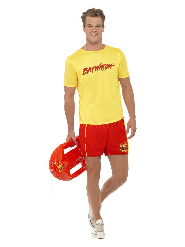 Baywatch Men's Beach Costume, Yellow