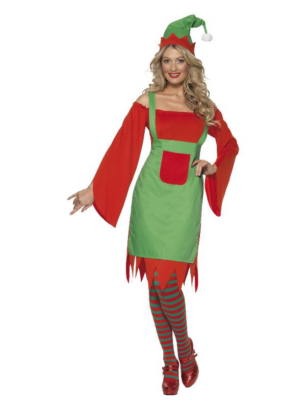 Cute Elf Costume, Red & Green