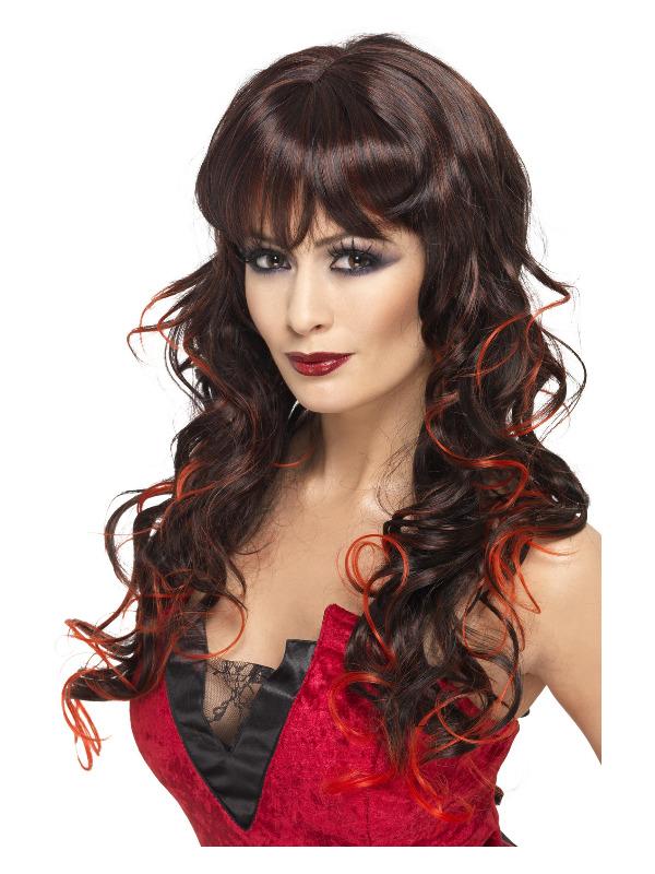 Vixen Wig, Brown, Long & Curly