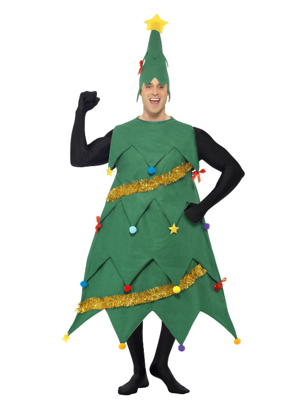Christmas Tree Costume, Green, with Tunic & Hat, Deluxe