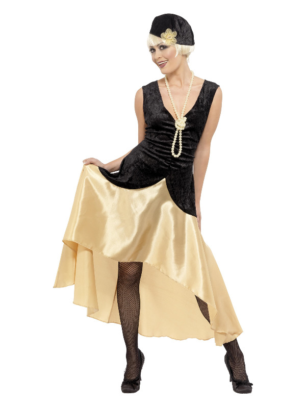20s Gatsby Girl Costume, Black