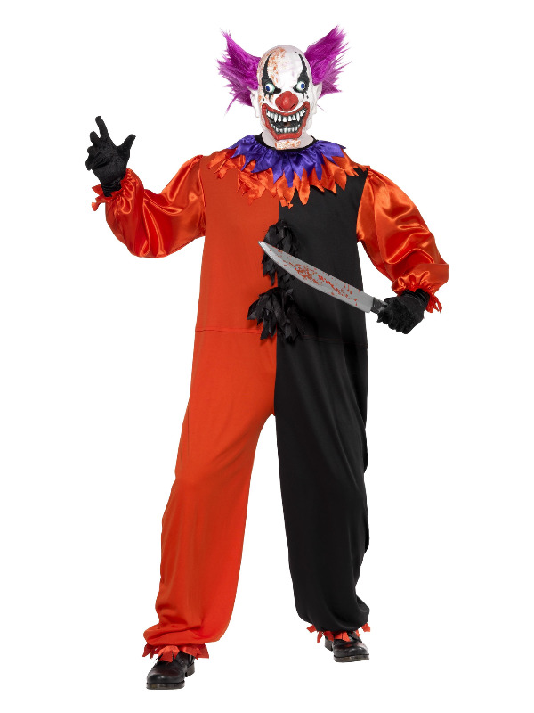 Cirque Sinister Scary Bo Bo the Clown Costume, Red