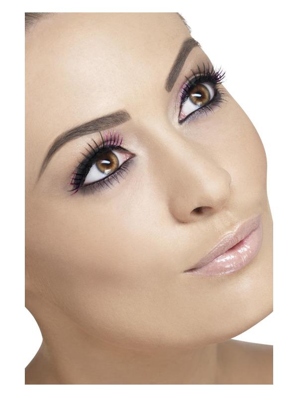 Eyelashes, Purple, Contains Glue