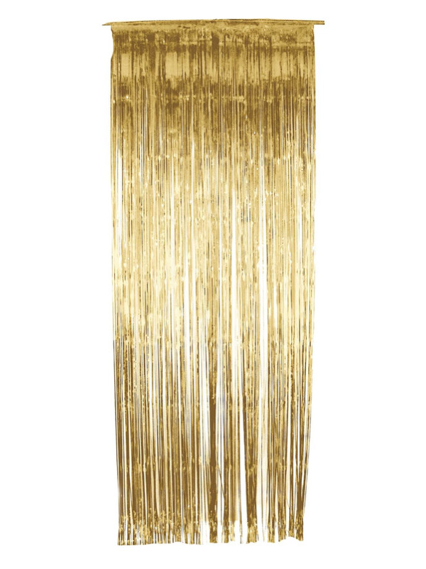 Shimmer Curtain, Gold, Metallic, 91cm x 244cm