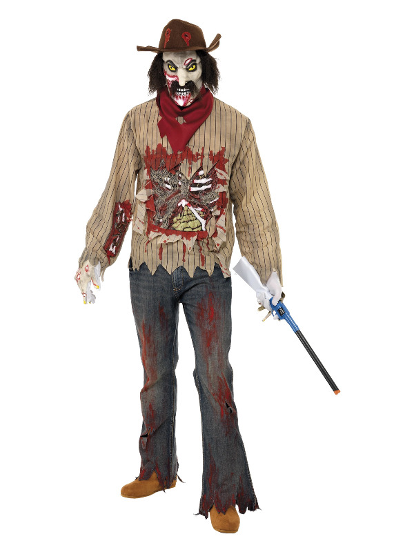 Zombie Cowboy Costume, Brown
