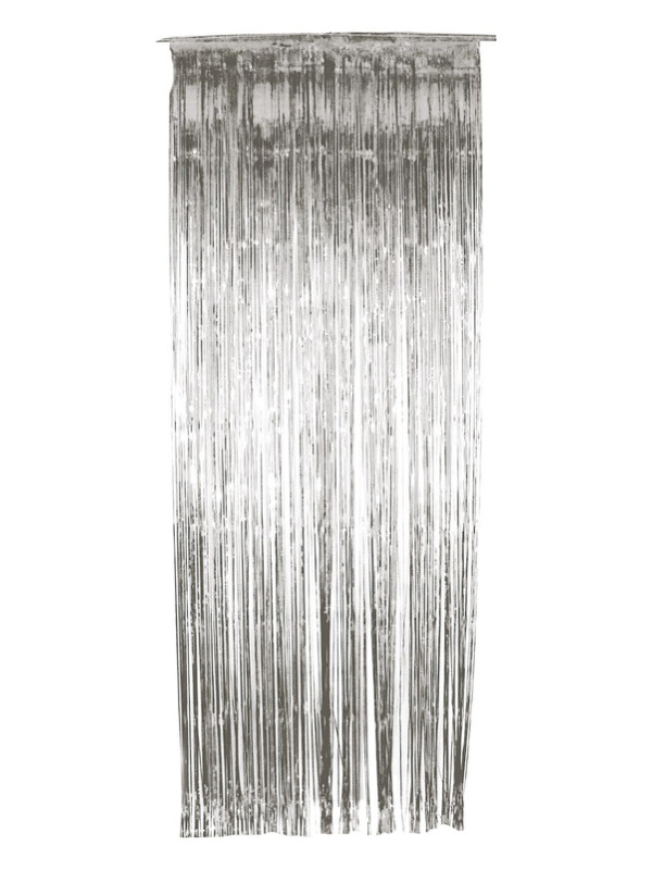 Shimmer Curtain, Silver, Metallic, 91x244cm/36x96in