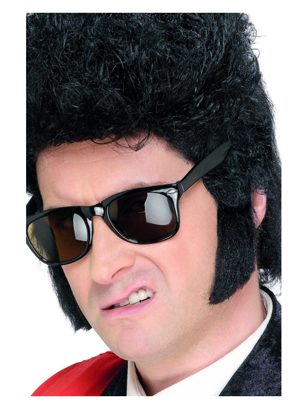 Teddy Boy Sideburns, Black, Self Adhesive