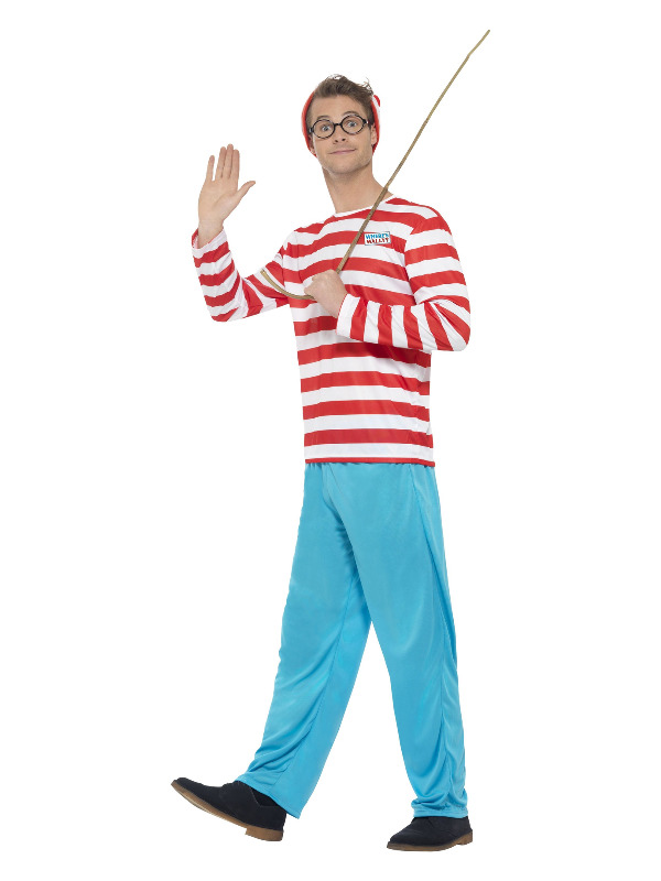 Where's Wally? Costume, Red & White