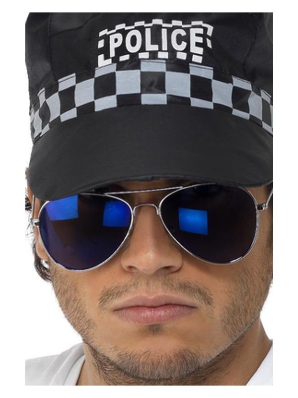 Aviator Specs, Blue Mirror, Silver, Silver Frame
