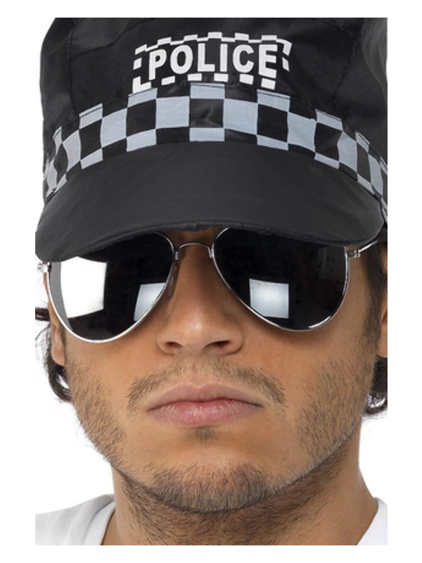 Aviator Specs, Silver Mirror, Silver & Black, Silver Frame