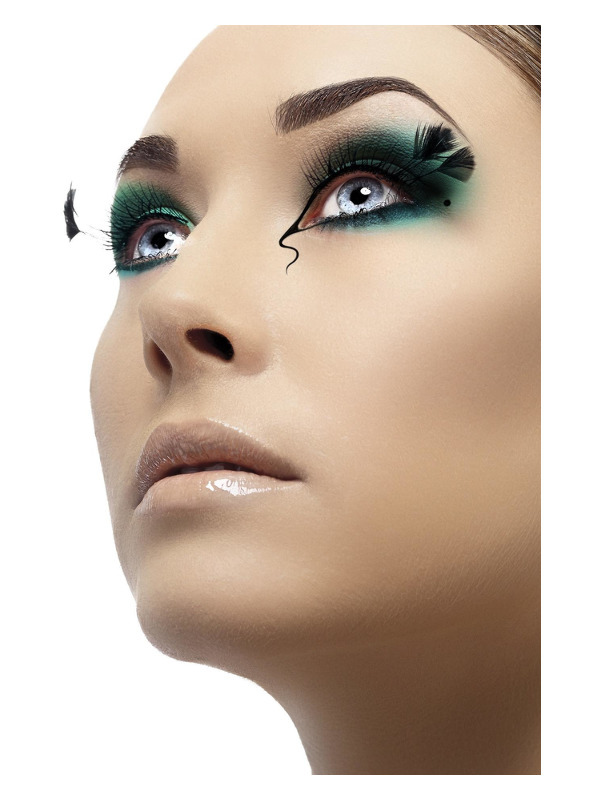 Eyelashes with Corner Plumes, Black, Contains Glue