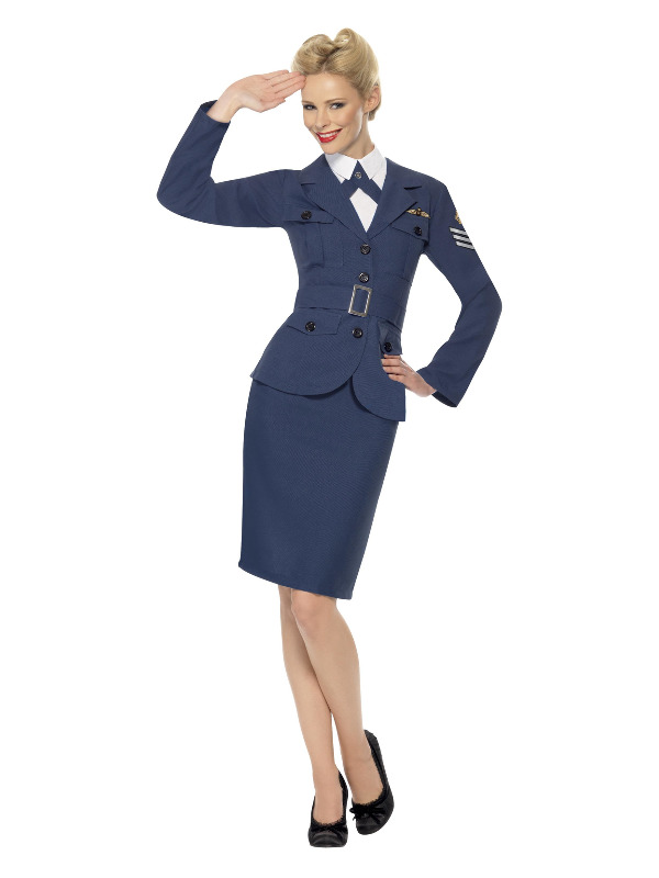 WW2 Air Force Female Captain, Blue