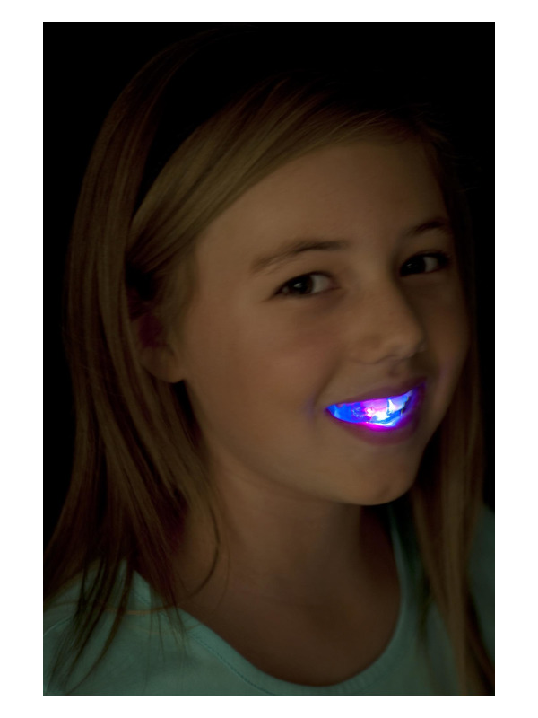 Flashing Mouth Piece, Multi-Coloured, with 4 Coloured LEDs