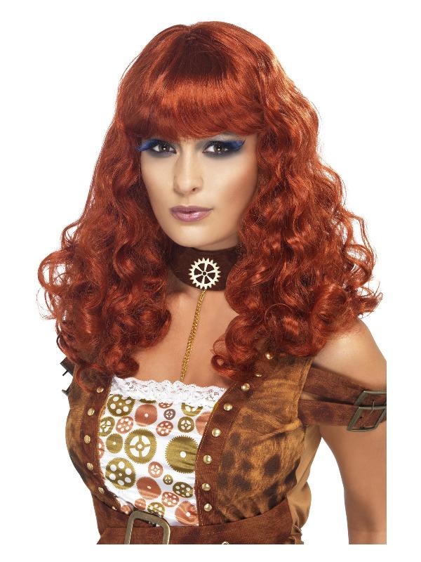 Steam Punk Female Wig, Auburn