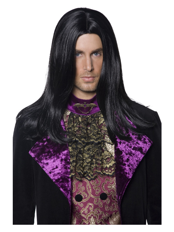 Gothic Count Wig, Black, Long & Straight