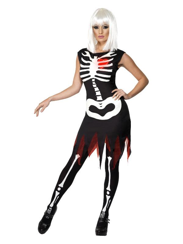 Bright Bones Glow in the Dark Costume, Black