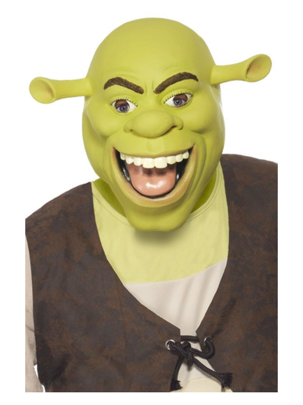 Shrek Latex Mask, Green