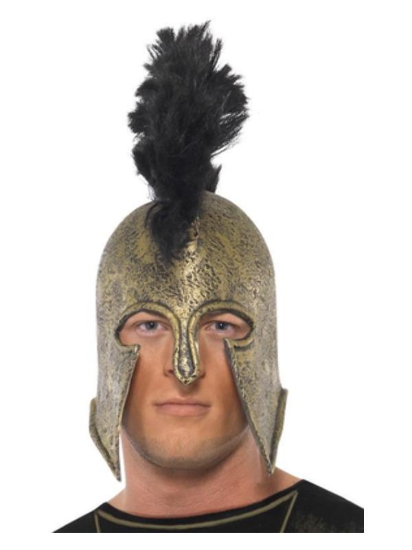 Deluxe Achilles Helmet, Gold, Latex
