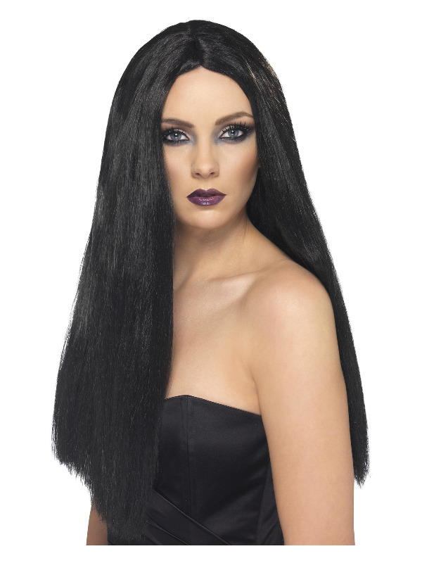 Witch Wig, Black, 60cm / 24in Long