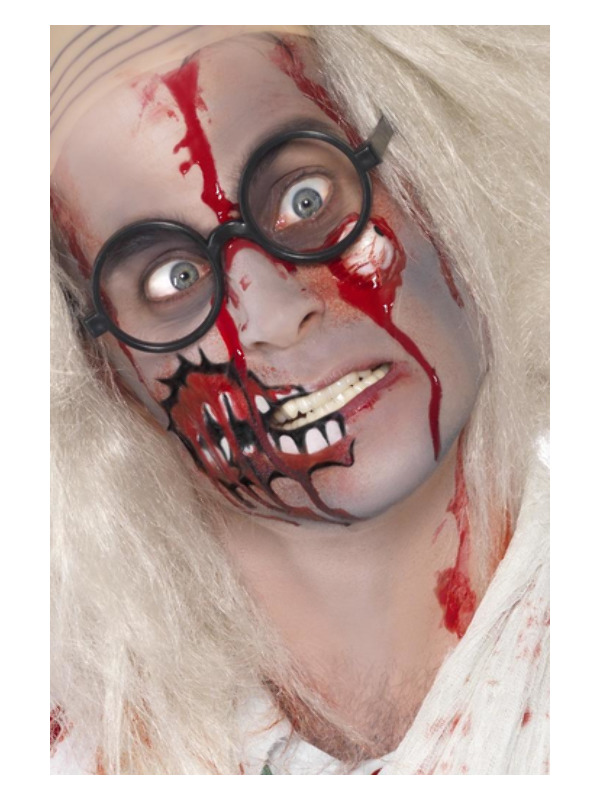 Smiffys Make-Up FX, Zombie Kit, Red, with Latex Eyeball & Blood, on Display Card