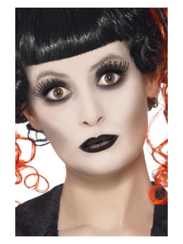 Smiffys Make-Up FX, Gothic Glamour Kit, White, Grease, with Face Paint, Lipstick & Eyelashes