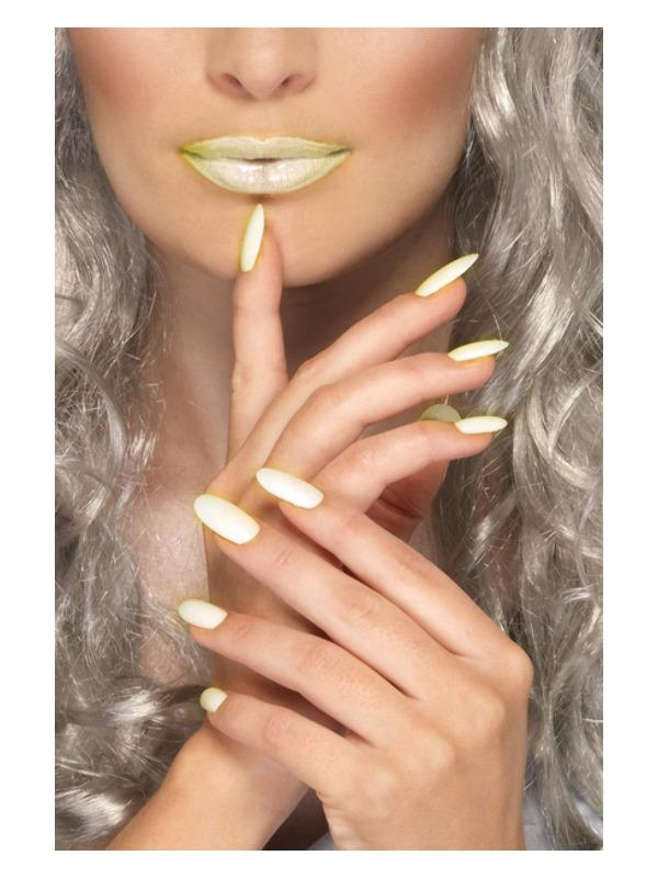 Smiffys Make-Up FX, GID Lipstick & Nail Polish Set, Glow in the Dark