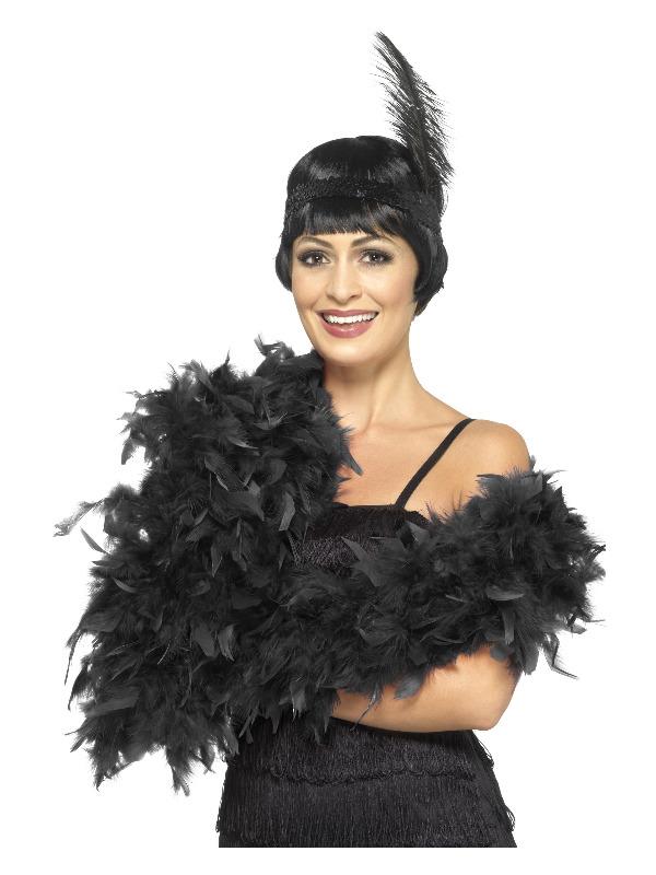 Deluxe Boa, Black, Feather, 180cm, 80g
