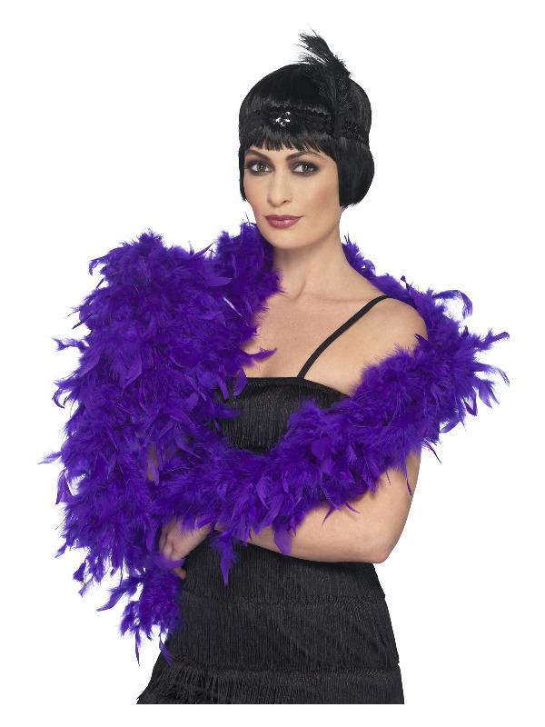 Deluxe Boa, Purple, Feather, 180cm, 80g