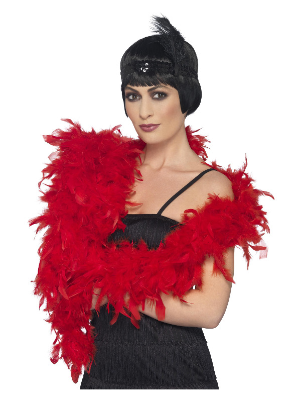 Deluxe Boa, Red, Feather, 180cm, 80g