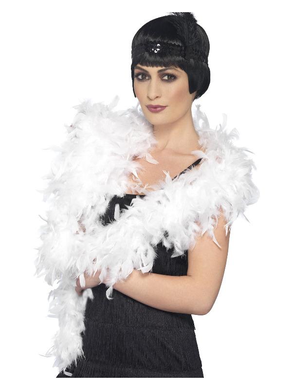 Deluxe Boa, White, Feather, 180cm, 80g
