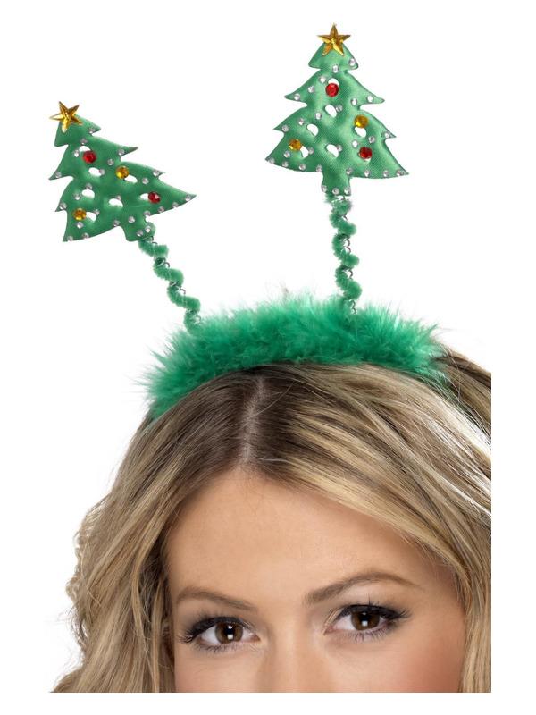 Christmas Tree Boppers, Green, on Headband