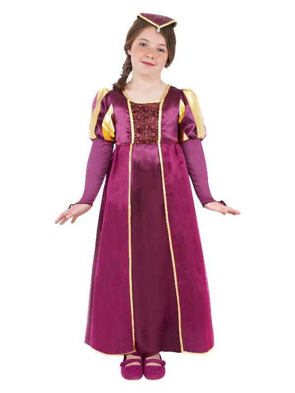 Tudor Girl Costume, Purple