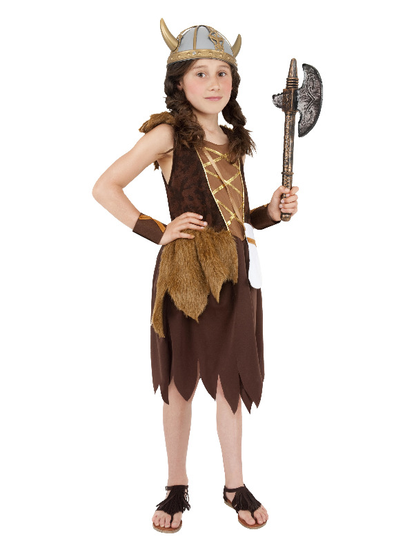 Viking Girl Costume, Brown