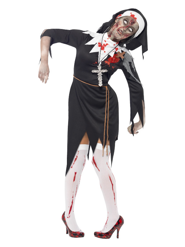 Zombie Bloody Sister Mary Costume, Black