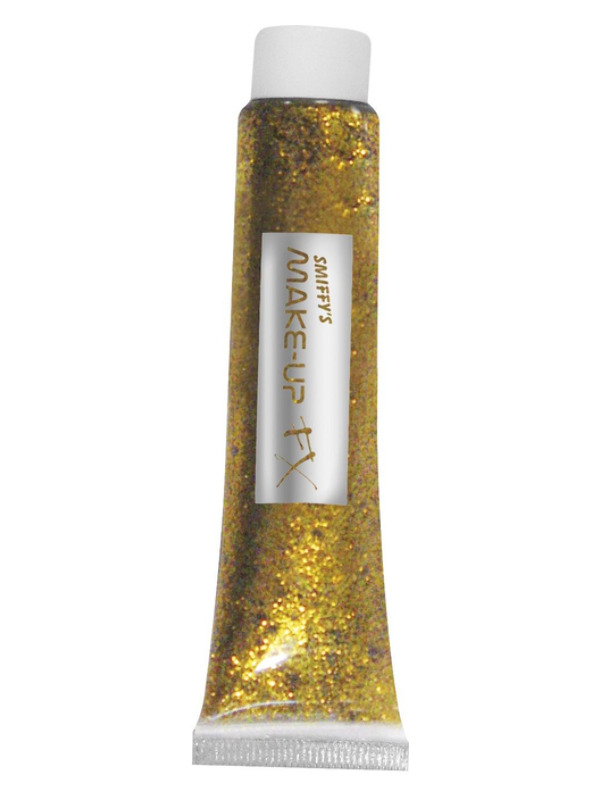 Glitter Gel, Gold, 20ml Tube