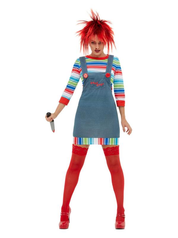 Chucky Ladies Costume, Blue