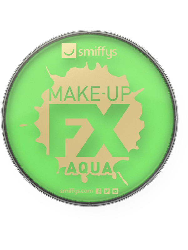 Smiffys Make-Up FX, Lime Green, Aqua Face and Body Paint, 16ml, Water Based