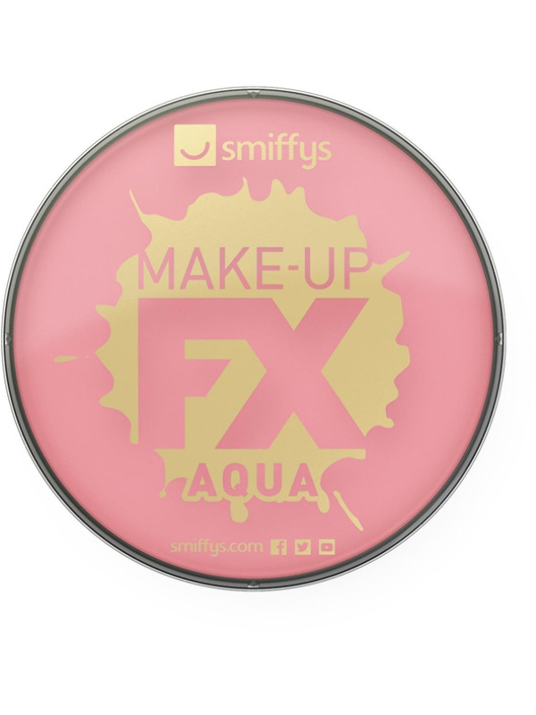 Smiffys Make-Up FX, Pink, Aqua Face and Body Paint, 16ml, Water Based