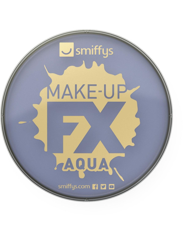 Smiffys Make-Up FX, Purple, Aqua Face and Body Paint, 16ml, Water Based
