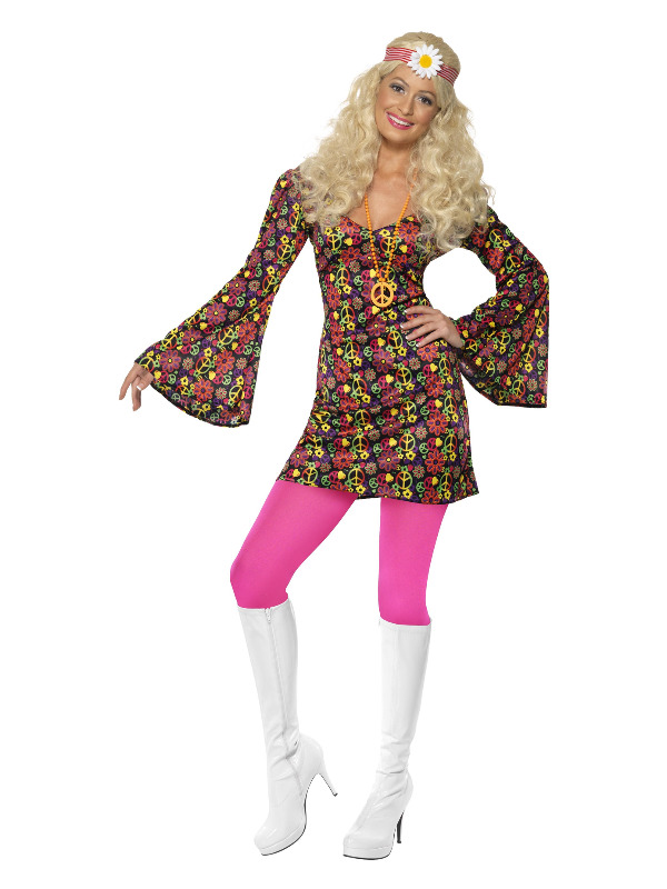 1960s CND Costume, Multi-Coloured