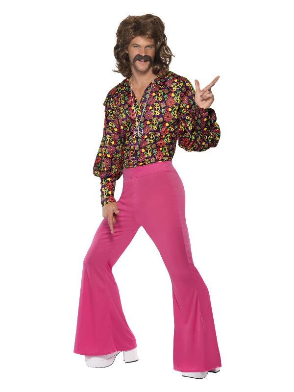 1960s CND Slack Suit Costume, Pink