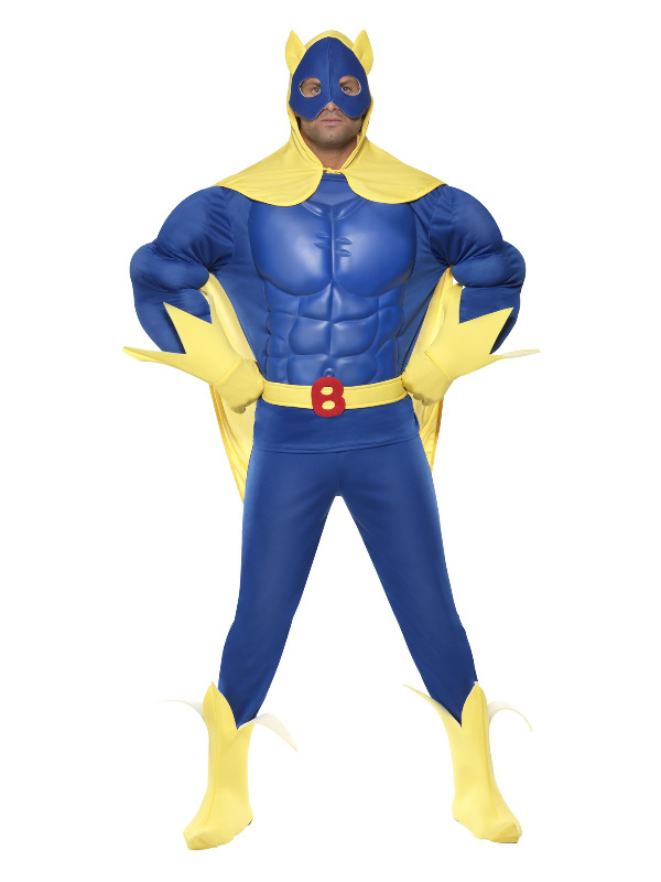 Bananaman Deluxe EVA Chest Costume, Blue