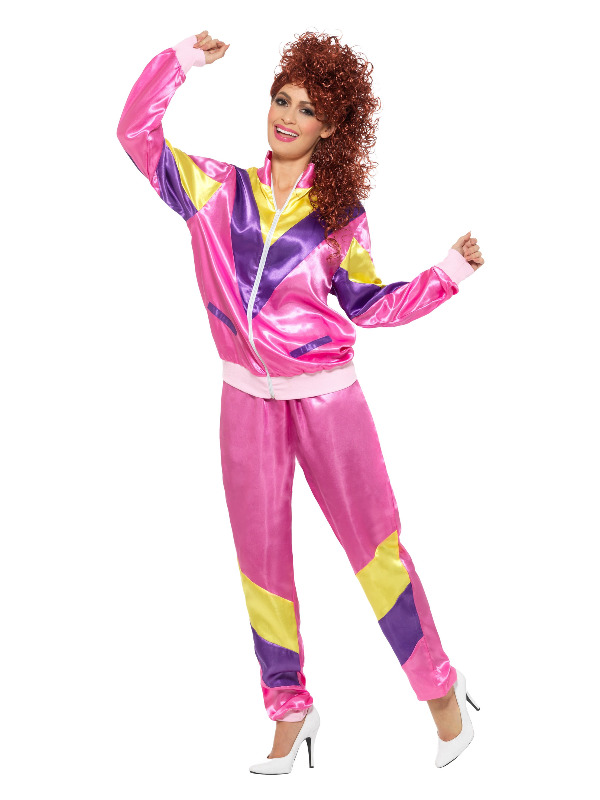 80s Height of Fashion Shell Suit Costume, Pink