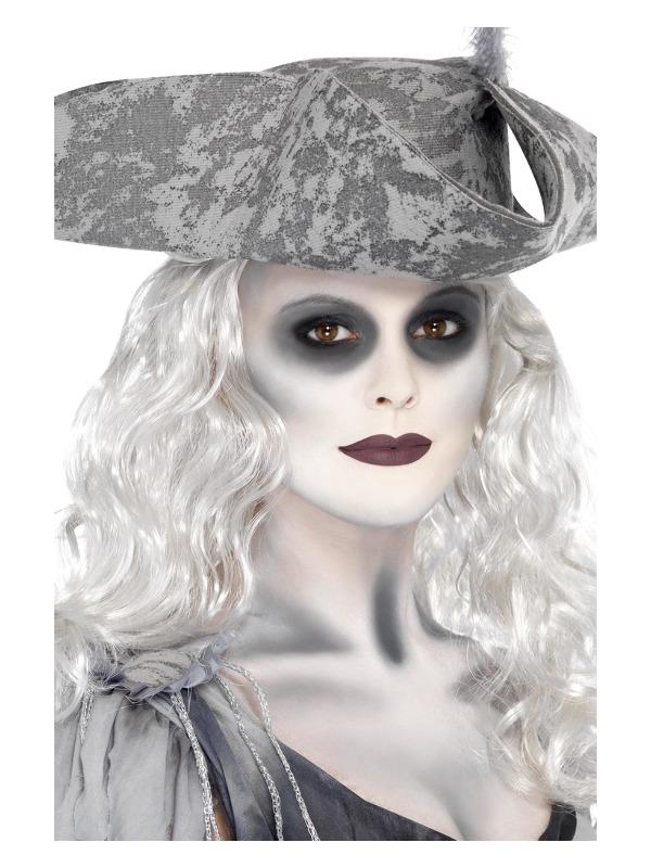 Smiffys Make-Up FX, Ghost Ship Kit, Grease, Black & White, 6 Colour Palette, Cream & Crayon & Applicators