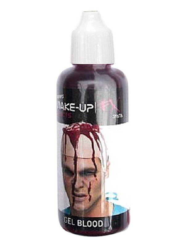 Smiffys Make-Up FX, Red, Professional Style Gel Blood, Red, 28.4ml Bottle