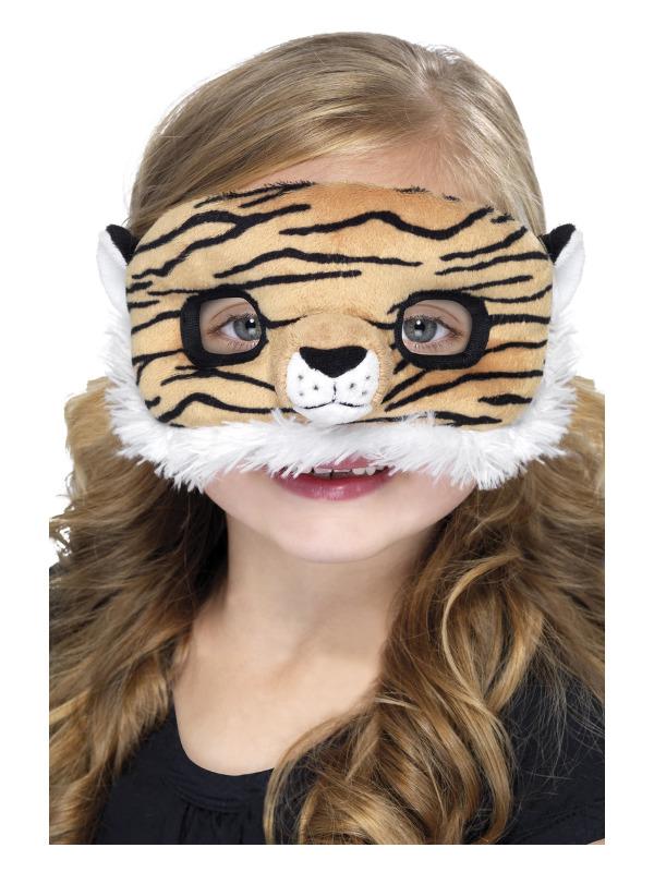 Child Plush Eyemask, Tiger, Brown