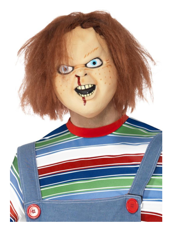 Chucky Latex Mask, Brown, Full Overhead