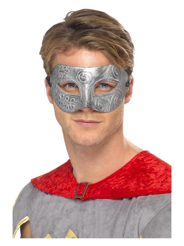 Metallic Warrior Colombina Eyemask, Silver