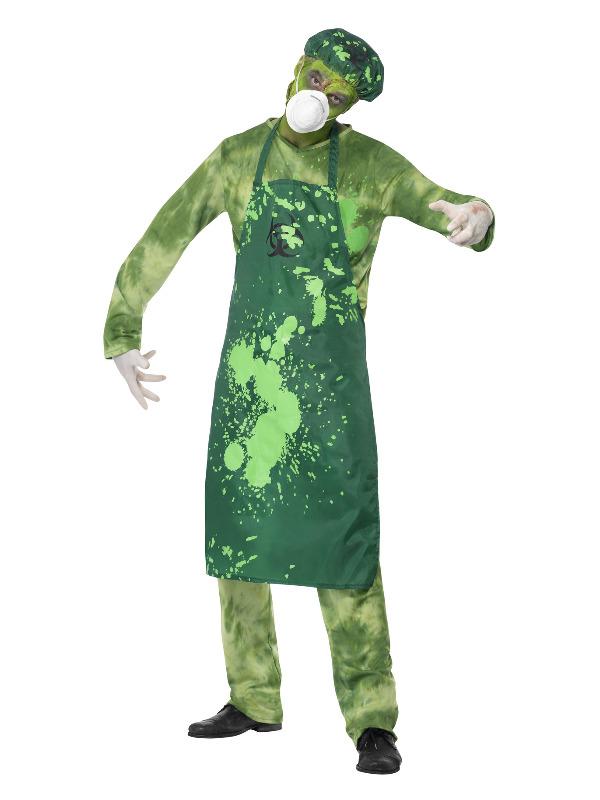 Biohazard Male Costume, Green