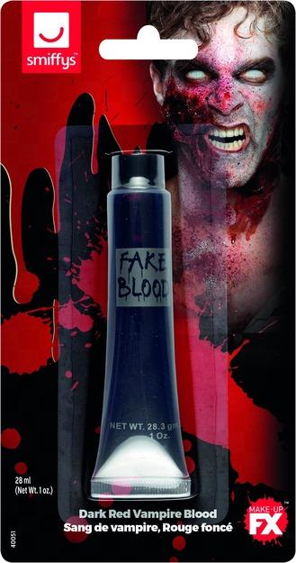 Smiffys Make-Up FX, Vampire Gel Blood, Dark Red, Tube 28ml/1 oz